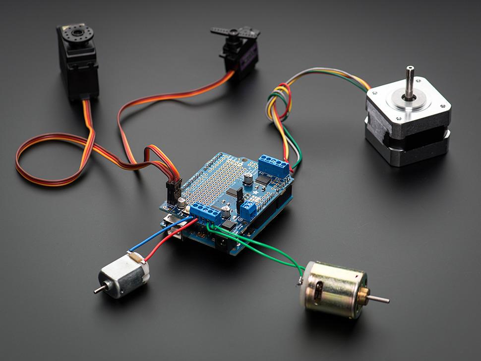 Adafruit Motor/Stepper/Servo Shield Kit v2.3