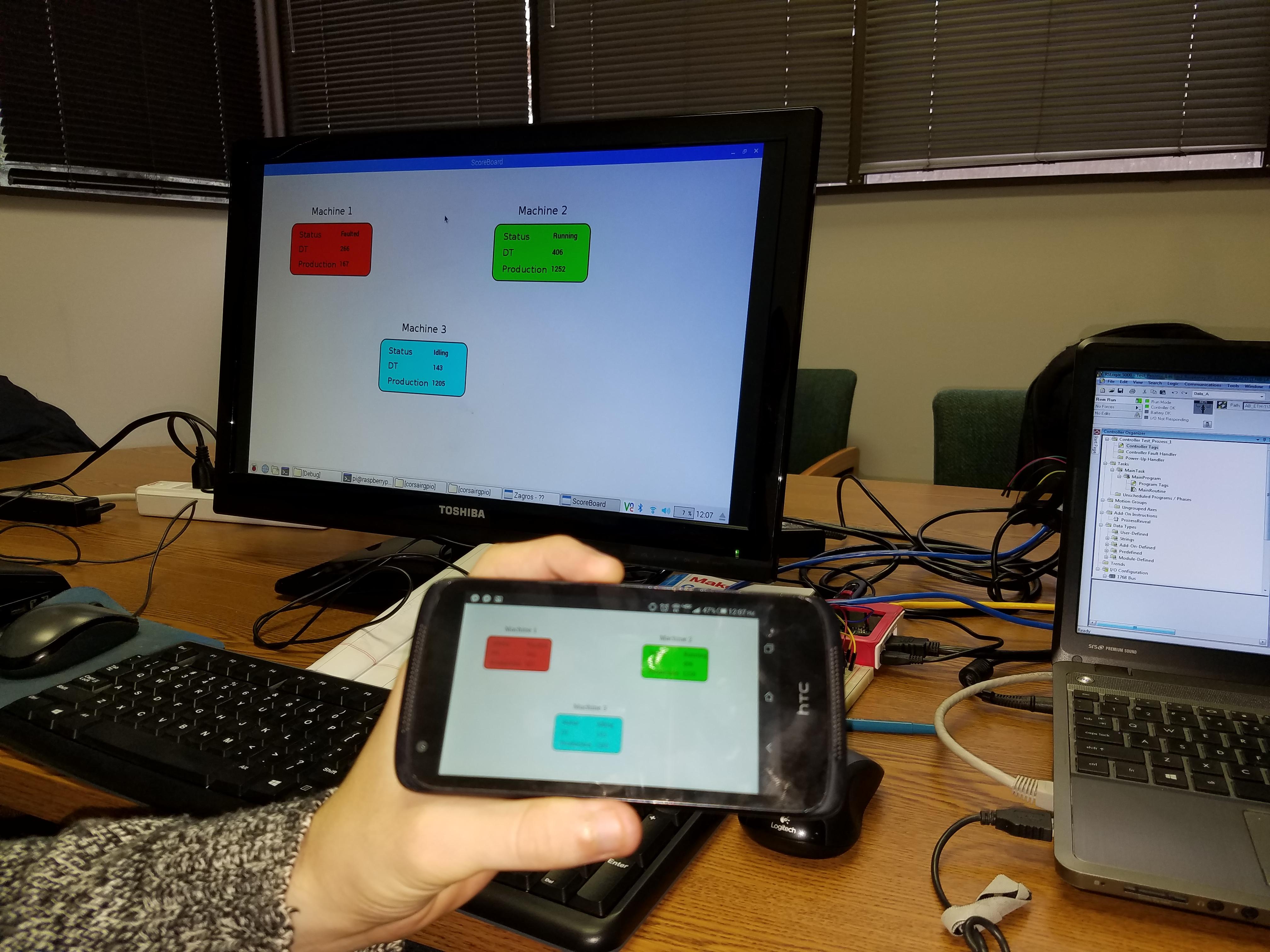 Raspberry Pi HMI and Contrologix PLC