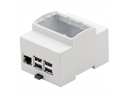 4M DIN Rail mounting enclosure for Raspberry Pi B+, Pi 2 and Pi 3 Model B