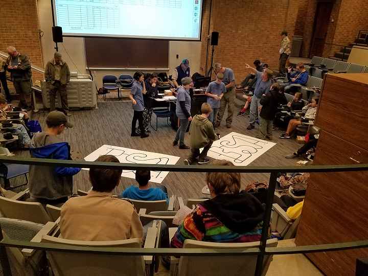 Boy Scouts line following competition