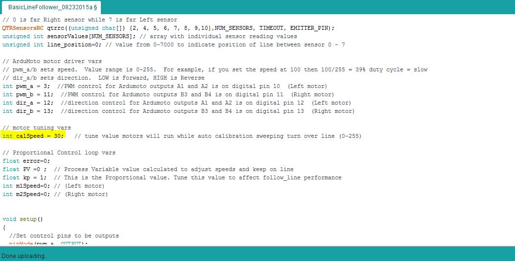 Basic Line Code Calibration Speed
