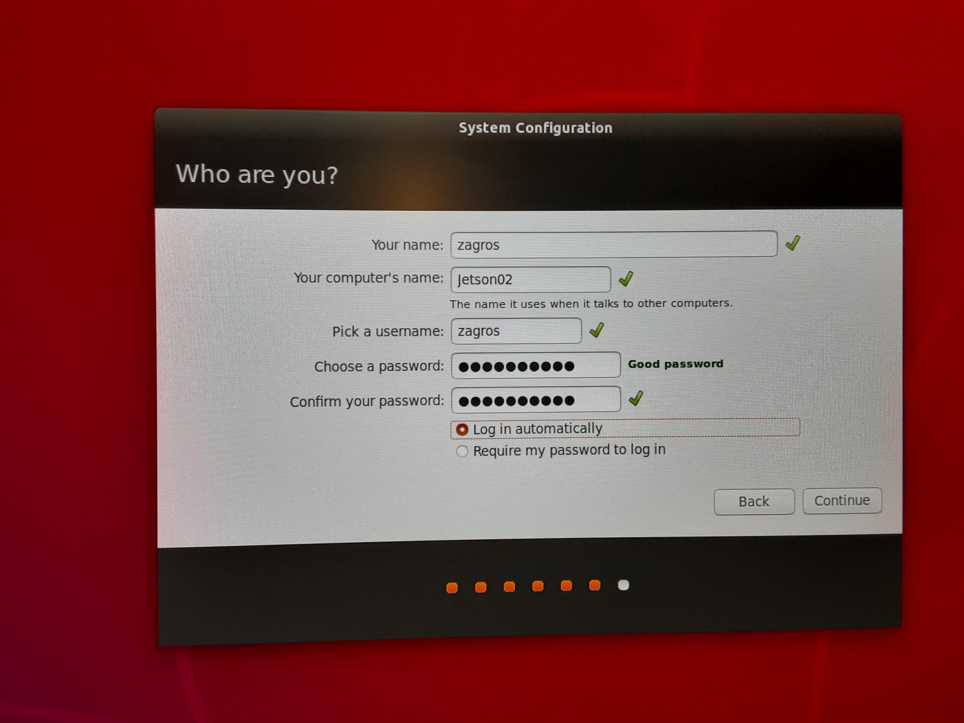 User Account Configuration