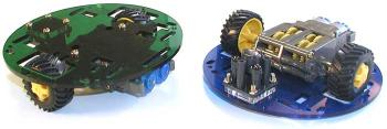 Pololu Round Robot Chassis (Blue) Kit