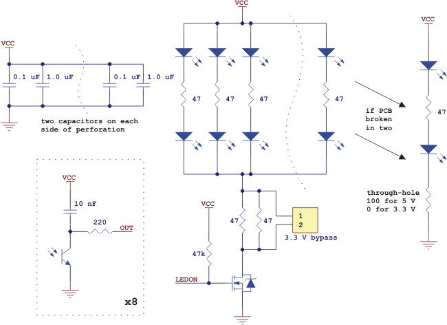 QTR8RC Schematic