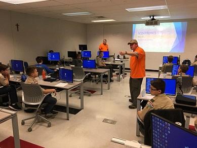 Scouts building robots